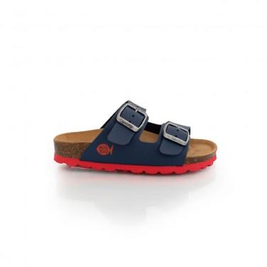 Sandalias Bio Zico Azul-Rojo