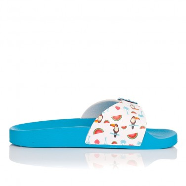 Sandalia Slide Praia Azul...