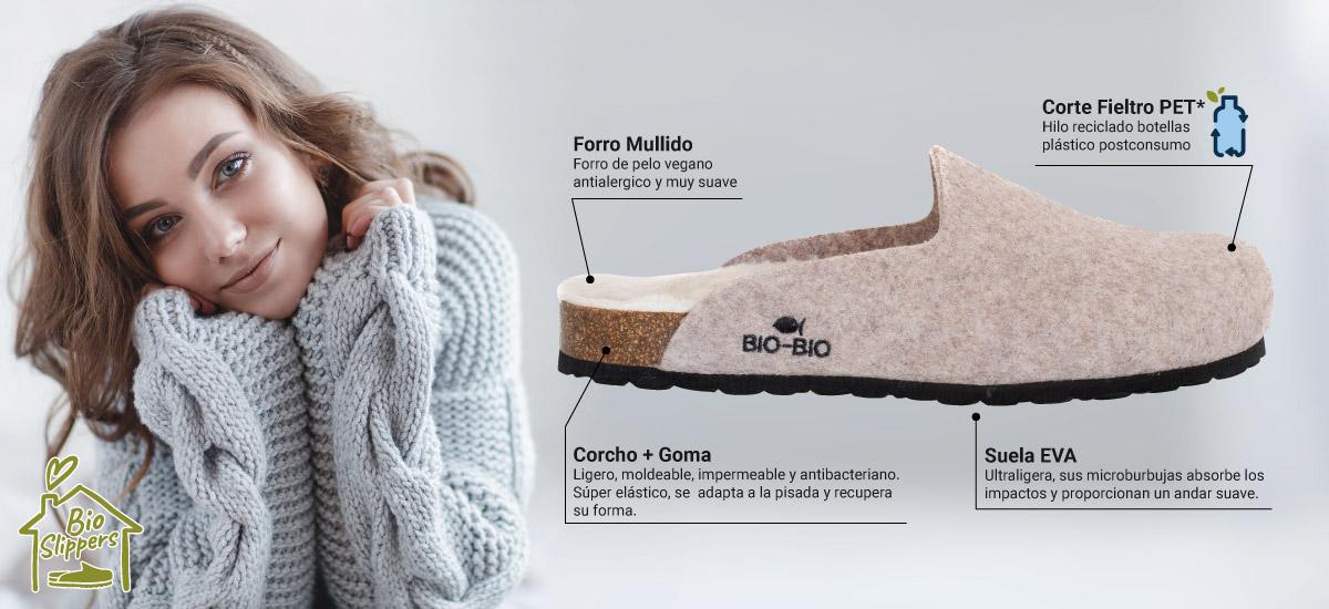 Zapatillas de Casa Ecológicas Bio Bio